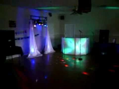 Diy Dj Setup With Lights In A Dark Room Dj Stuff