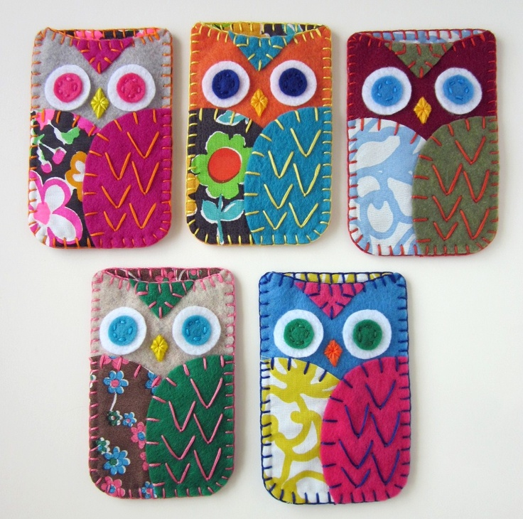 Felt Owl phone pouch. Hi I would love this.
