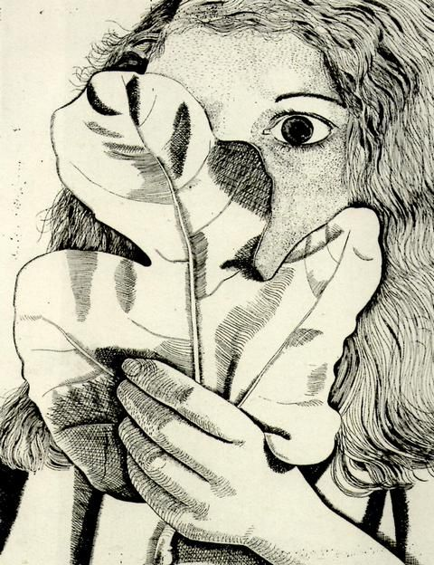 Girl with a Fig Leaf, 1947, Lucian Freud 1922- 2011. Tate Collection.