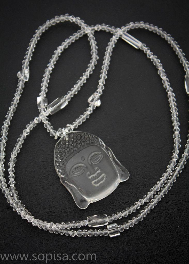 Katja necklace by Sopisa. #buddha #buddhanecklace #bohojewelry #bohemian