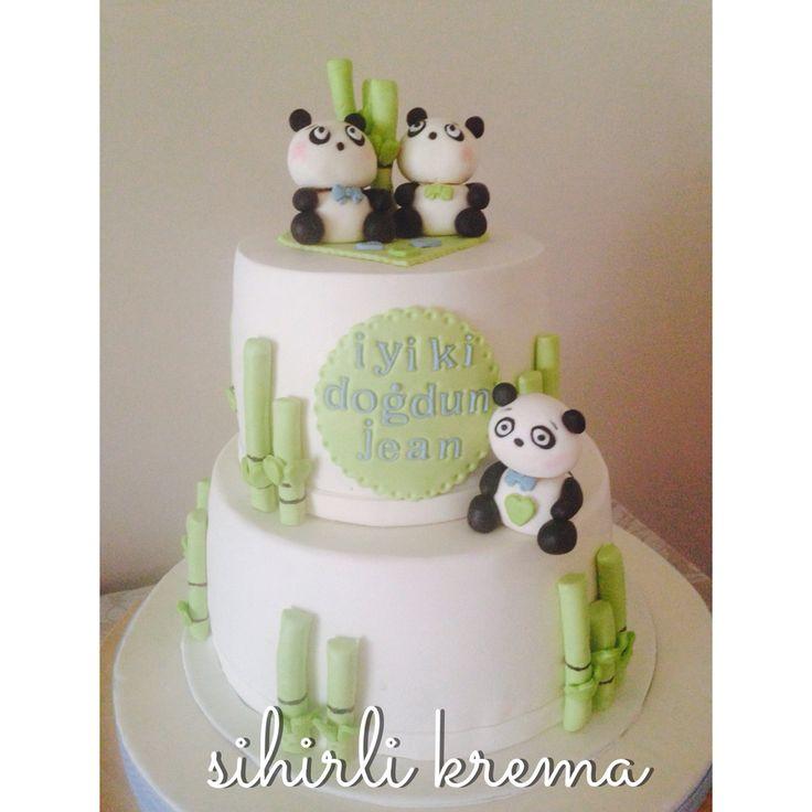 #fondantpandacake #fondantcakes #butikpasta #pandapasta #sugarart #1stbirthdaycake #pandacake