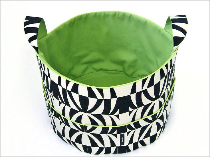 Jumbo Fabric Tub (round basket with handles) tutorial - Sew4Home