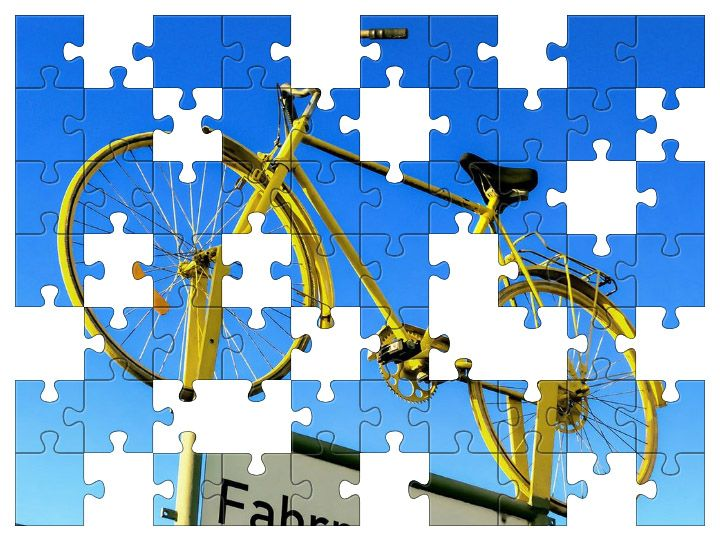 Free Jigsaw Puzzle Online - Yellow Bicycle