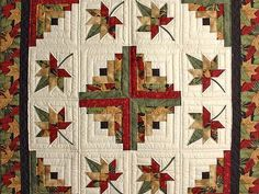 images of fall throw quilts | Gold Red and Sage Au…