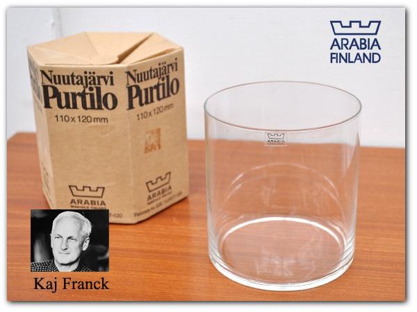 北欧 izuya00462M アラビアARABIAガラスPurtiloカイ フランク 花瓶 ¥4500円 〆03月13日