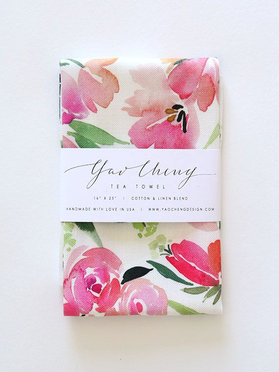 Yao Cheng Design - Spring Flora Composition Tea Towel