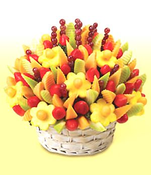 Edible fruit arrangement for the  girls getting ready in the am