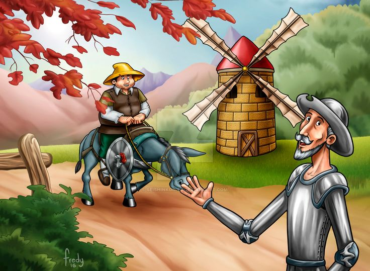 03 Quijote y Sancho by SeishinKonno.deviantart.com on @DeviantArt