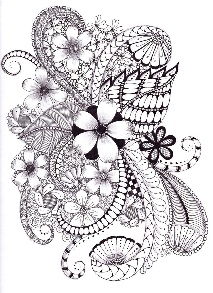 Zentangle doodle ZentangleColoring