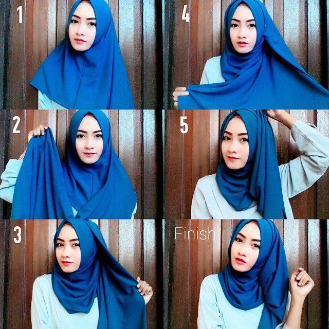 Beautiful Blue Hijab Tutorial