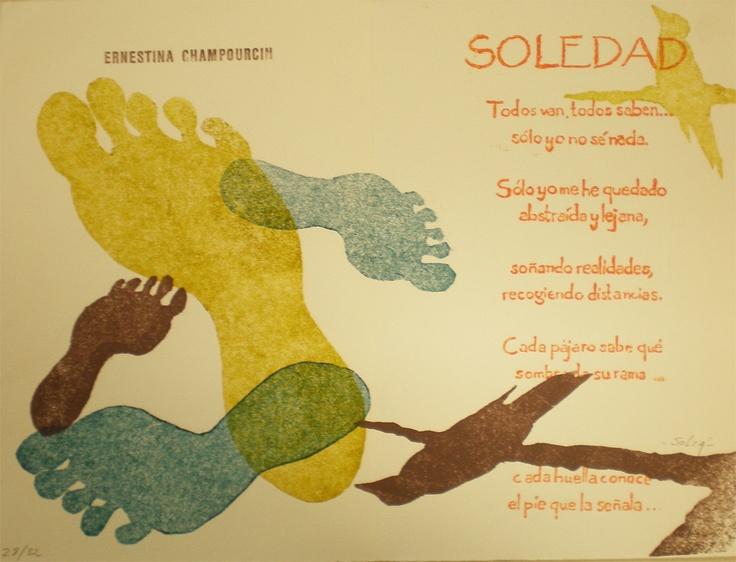 Una poema de Ernestina de Champourcin. Se llama Soledad.