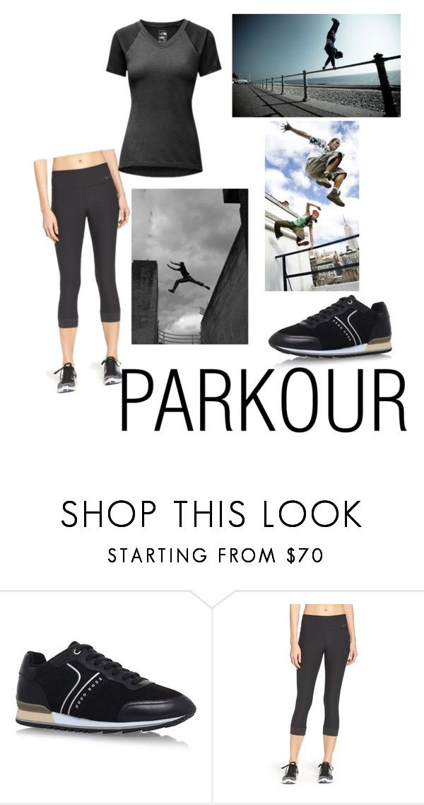"""Parkour Girl"" by roze-m ❤ liked on Polyvore featuring HUGO, NIKE and The North Face"