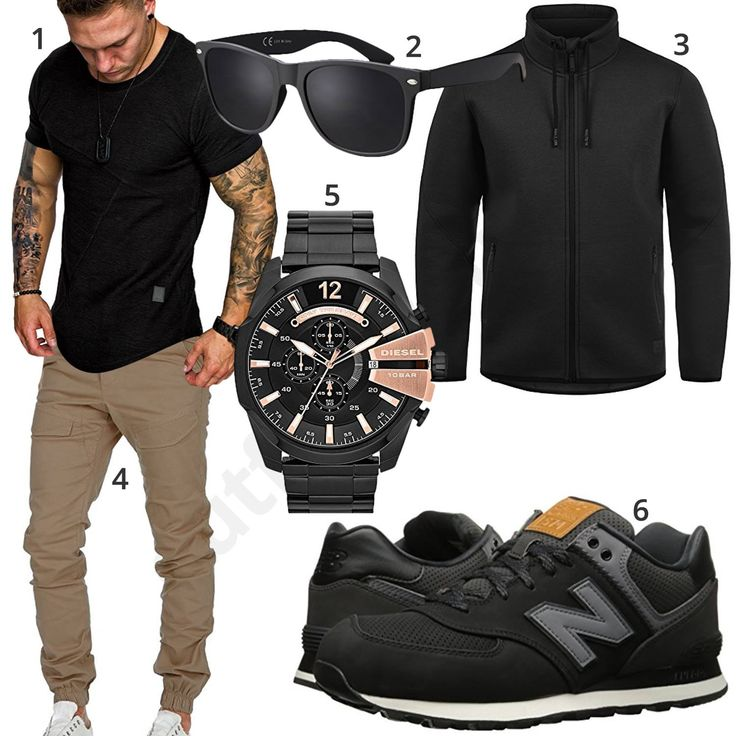 Street-Style mit Shirt, Jogg-Chino und Sonnenbrille (m1029) #shirt #jogginghose #brille #diesel #uhr #newbalance #outfit #style #herrenmode #männermode #fashion #menswear #herren #männer #mode #menstyle #mensfashion #menswear #inspiration #cloth #ootd #herrenoutfit #männeroutfit