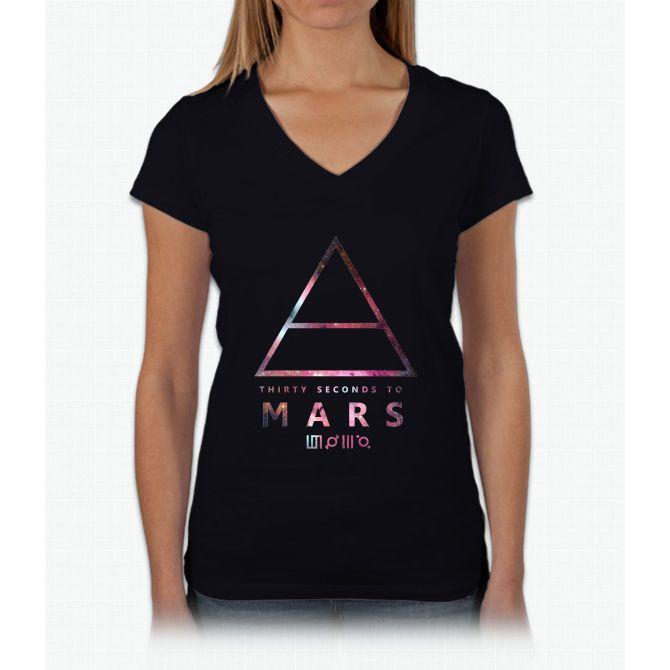30 Seconds To Mars Universal Womens V-Neck T-Shirt