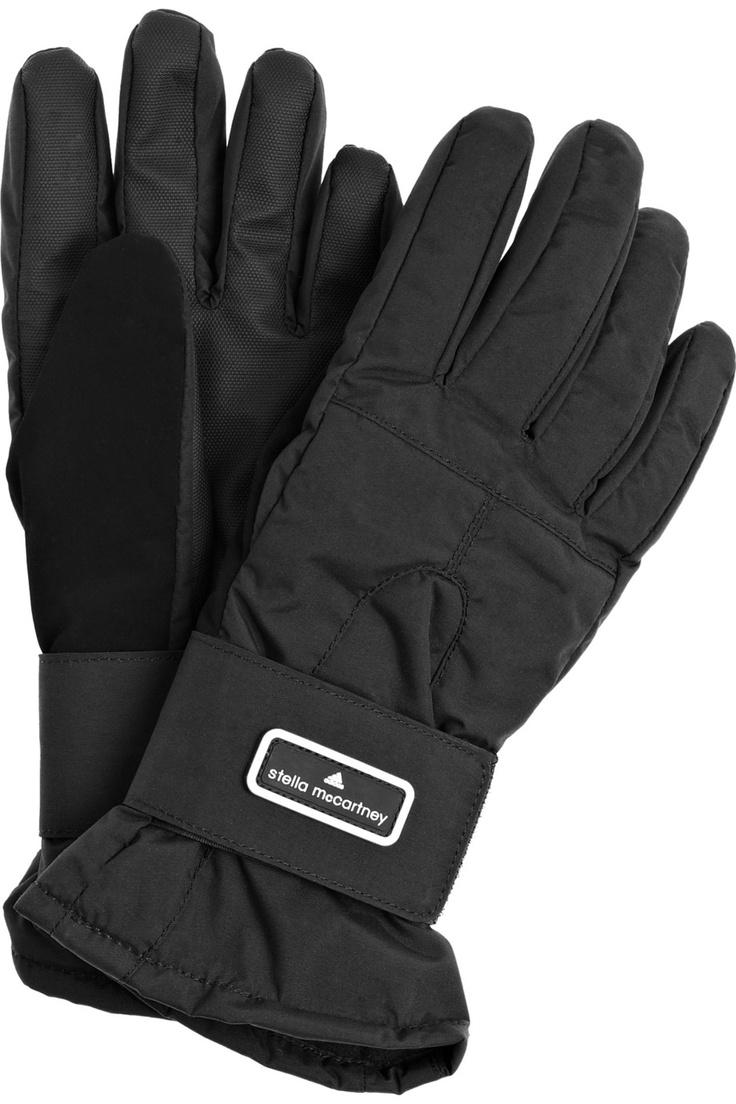 Adidas by Stella McCartney Fleece-lined ski gloves NET-A-PORTER.COM
