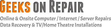 Geeks On Repair provides computer repair,Home theater installation,computer virus removal both onsite and remotely 24/7.