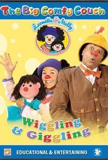 """""""With Loonette and Molly - a clown and her dolly on the big comfy couch."""""""