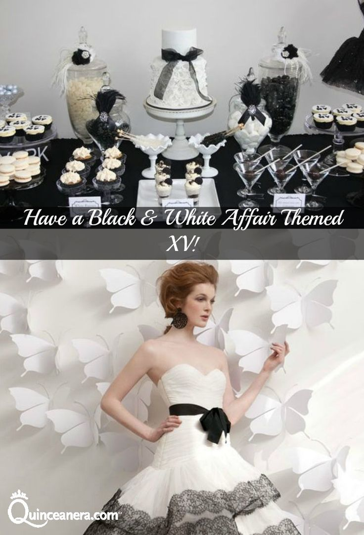 Black and White | Black & White Affair | Quinceanera theme ...  Black and White...