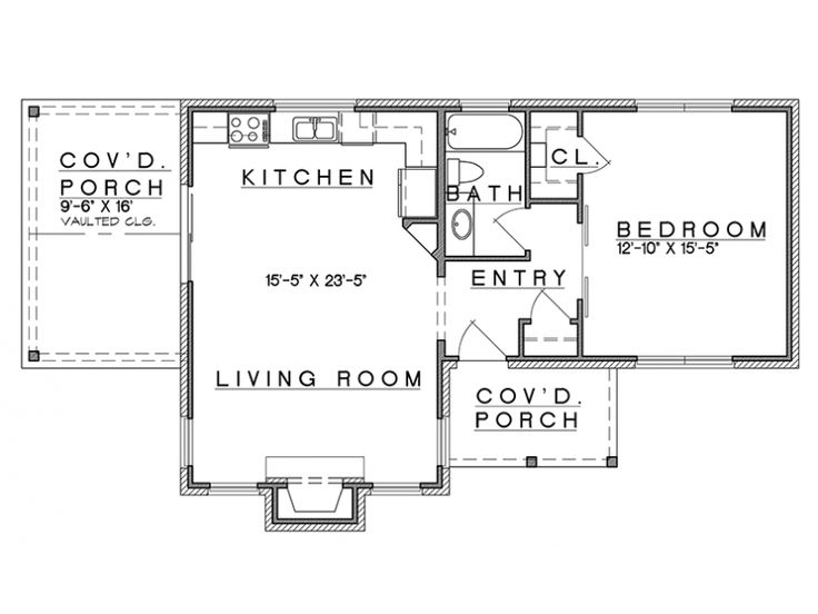 Home Plan Is A Gorgeous 808 Sq Ft, 1 Story, 1 Bedroom, 1 Bathroom Plan  Influenced By + Cottage Style Architecture.
