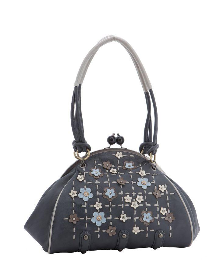 Spencer and Rutherford - Handbags - Frame Shoulder Bag - Liesl - Ice Queen