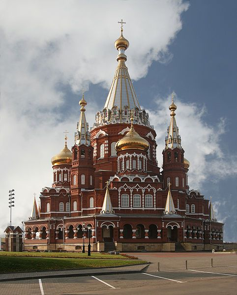 The Svyato Mikhailovsky Cathedral in Izhevsk, Republic of Udmurtia in Russia