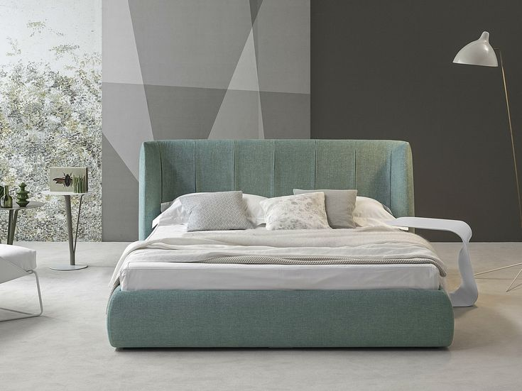 Double bed with upholstered headboard BASKET PLUS Basket Collection by Bonaldo   design Mauro Lipparini