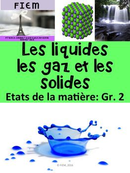 Teach the states of matter with visuals! Introduce students to solids, liquids and gases of all kinds!French sight words to learn the vocabulary of: Les solides, les liquides et les gaz to support your language and science units, introduce essential vocabulary, stimulate oral communication This package includes 30 colourful flashcards on the theme of: Les tats de la matire.