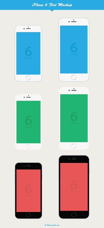 6 poster design photo mockups - Iphone 6 Flat Vector Mockup Freebie On Behance