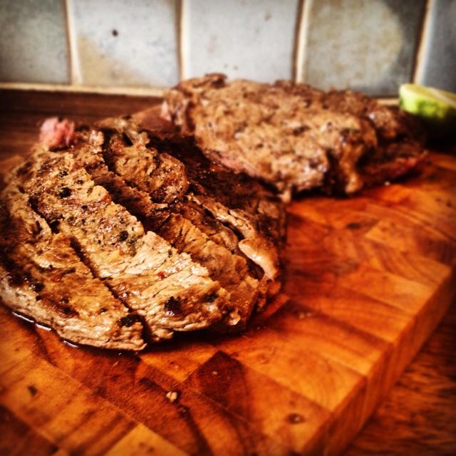 Feathered steak