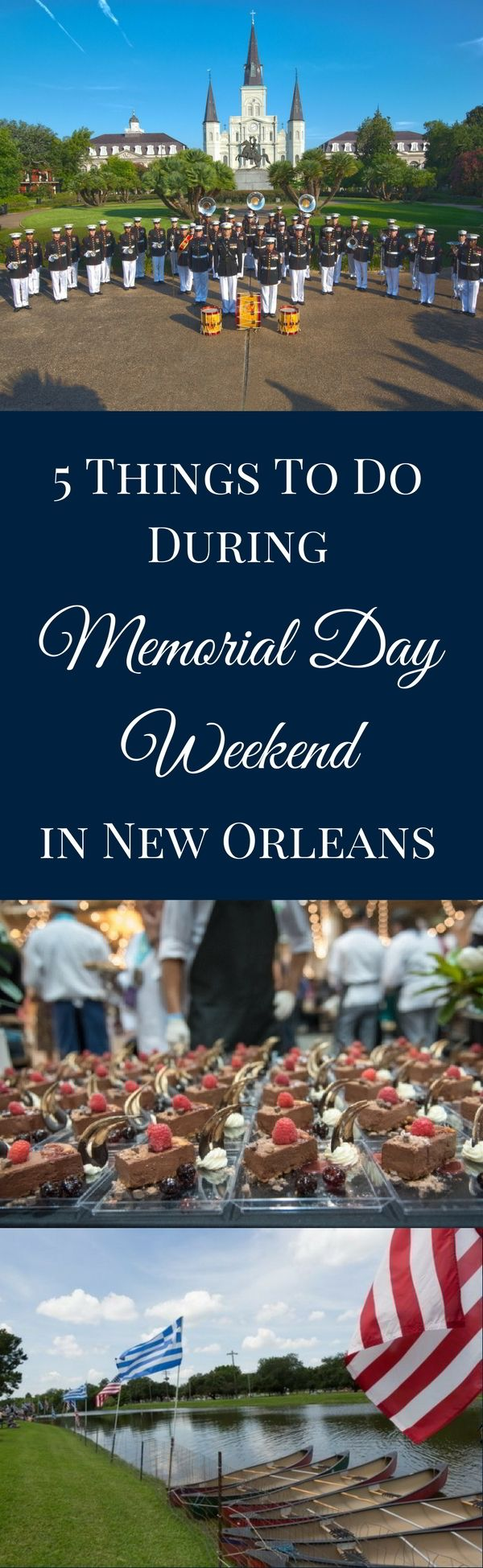 Memorial Day weekend in New Orleans brings with it several opportunities to honor fallen military members or simply enjoy a long weekend in the city. As always, we're centrally located so that you can walk or find easy transportation to all the best events happening in New Orleans. Take your pick below!