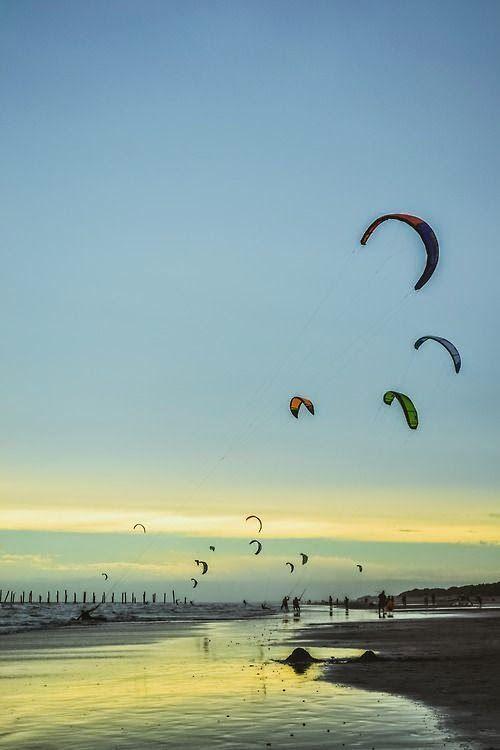 Skysurf en Monte Her mother nature moments