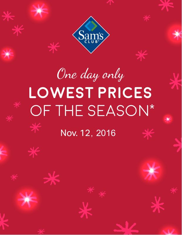 one day only lowest prices of the season on must have tech toys and more quantities limited while supplies last see more from sams club