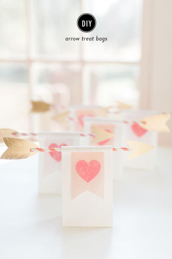 DIY arrow treat bags for Valentine's Day! http://www.stylemepretty.com/living/2015/02/07/diy-arrow-treat-bags/