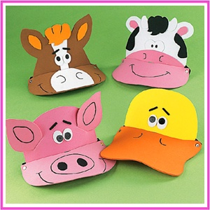 Farm foam animal visors