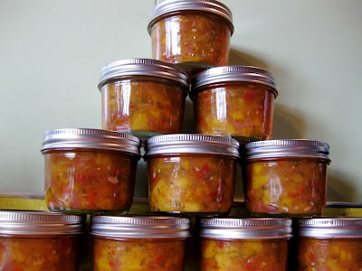 Farm Girl Blog: Canning Peach Salsa and the Seduction of Real Life