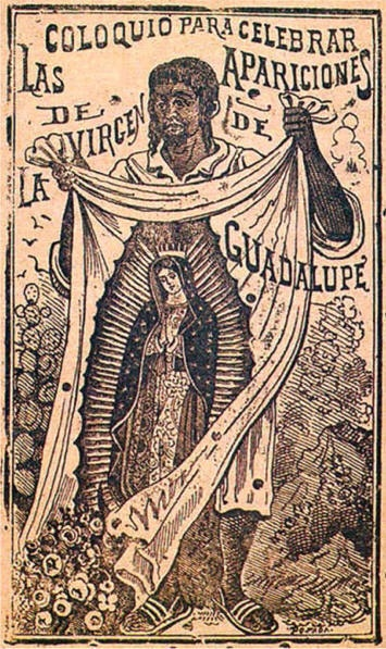 Nuestra Senora de Guadalupe-an etching by Jose Guadalupe Posada