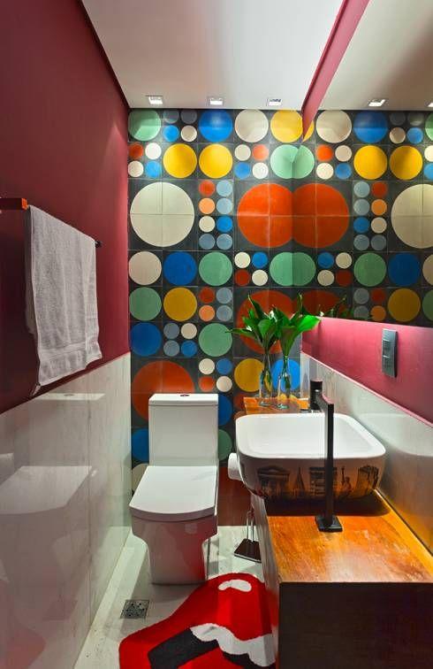 La quelle vous fera CRAQUER ?! https://www.homify.fr/livres_idees/909099/9-salles-de-bains-dynamiques-et-colorees