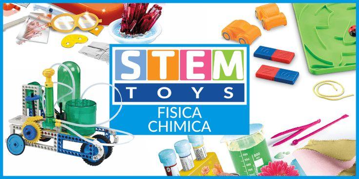 8 giocattoli educativi per divertirsi con la chimica e la fisica Con giocattoli STEM la scienza diventa un gioco: niente libroni da studiare, ci si mette subito all'opera in laboratorio sperimentando con la fisica e con la chimica. Si indossa il camice e si parte