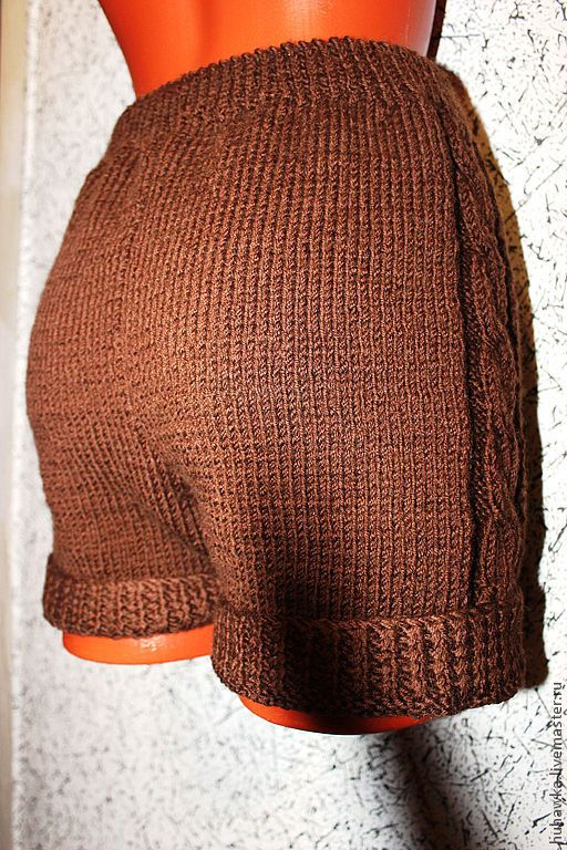"""Купить Шорты женские """"Уникальность"""" - коричневый, орнамент, шорты, шорты крючком, шорты спицами"""