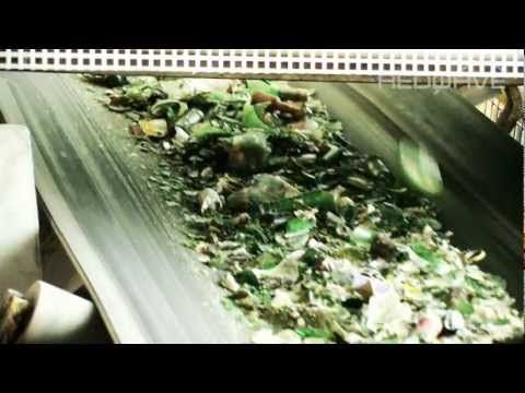 REDWAVE - Glass sorting plant germany - YouTube