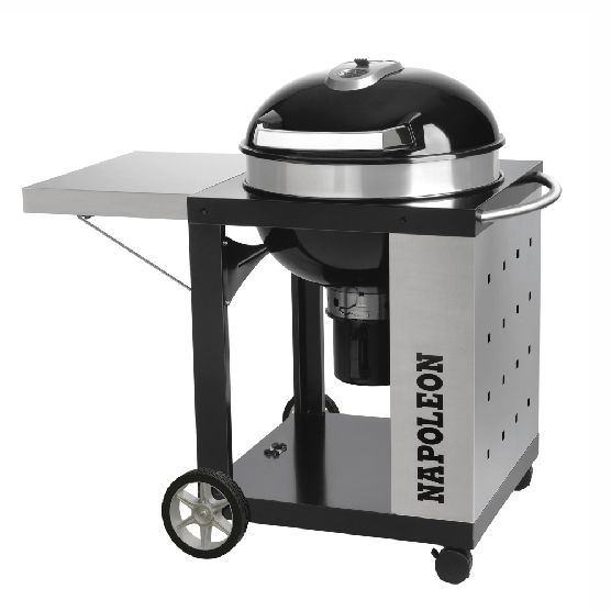 Napoleon Rodeo Charcoal Kettle BBQ with Cart NK22CK-C  - WITH FREE COVER