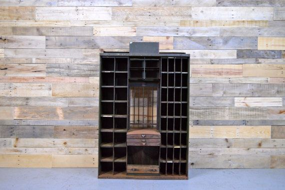 Antique Post Office Sorting Cabinet, Post