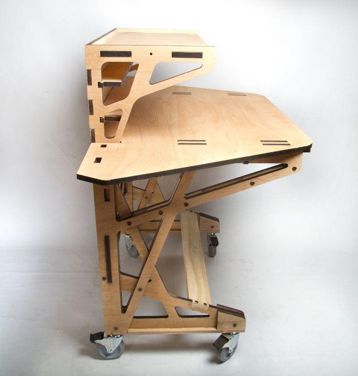 3d fabrication desk le bureau par peter borges desks bureaus and peter o 39 toole. Black Bedroom Furniture Sets. Home Design Ideas