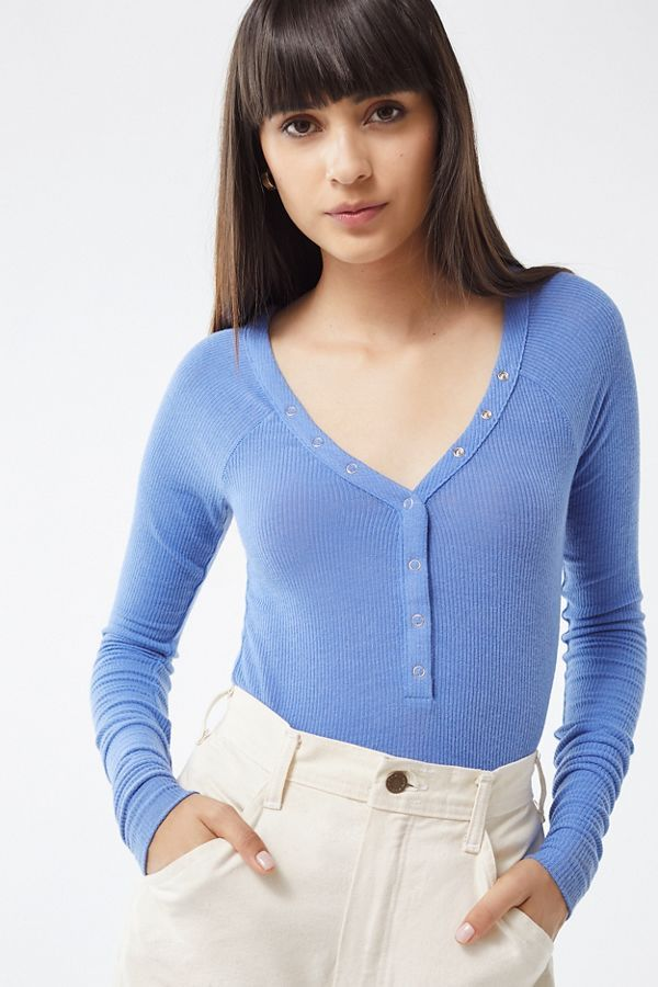 207855604a9 Slide View  2  Out From Under Harley Henley Top urban outfitters