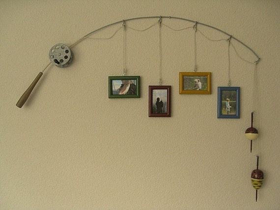 Fishing Pole Picture Frame - This would be so cute for my dad's house. He loves fishing