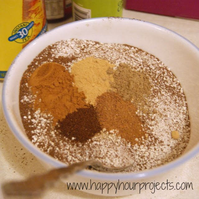 Instant Chai Tea Mix // I made it this morning using homemade powdered ...