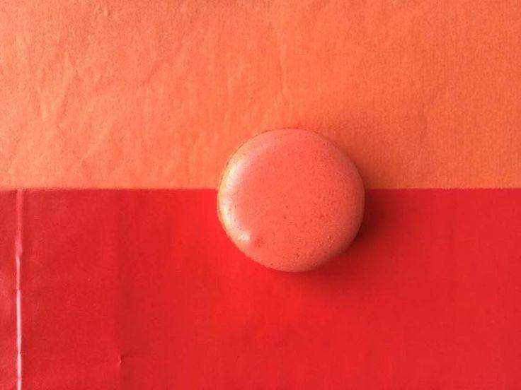 Redish Orange Macaron! <3 Get more Cute Macaron ideas on www.CarlasCakesOnline.com