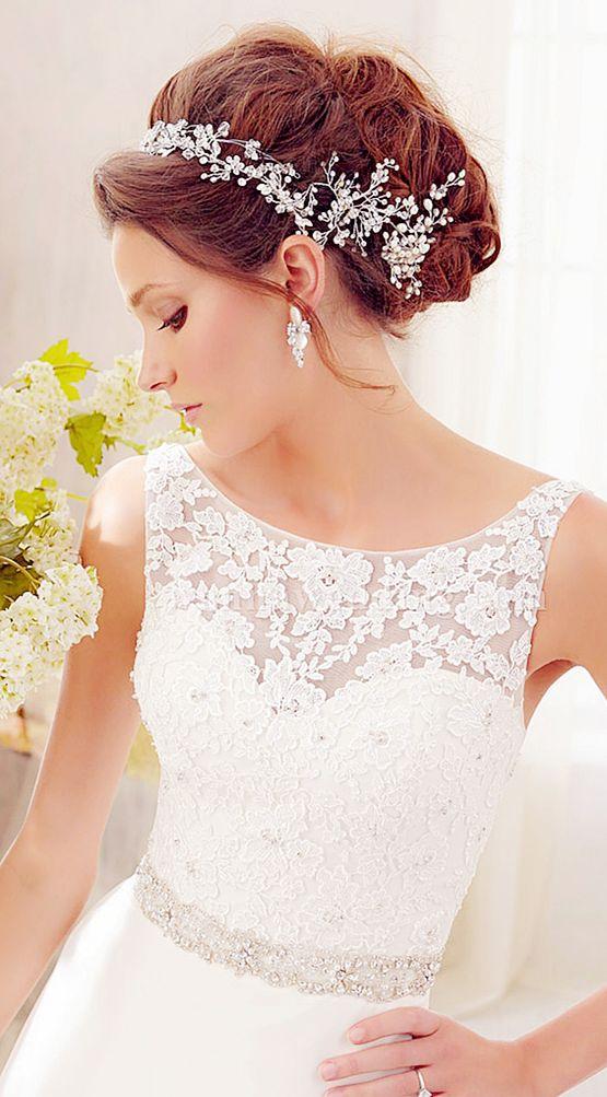 A-line V-back Wedding Dress, #weddingdress, wedding gown #wedding gwon