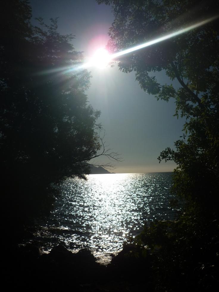 Linda Foto, desde la Laguna Verde con el lago Llanquihue, Puerto Montt, Chile