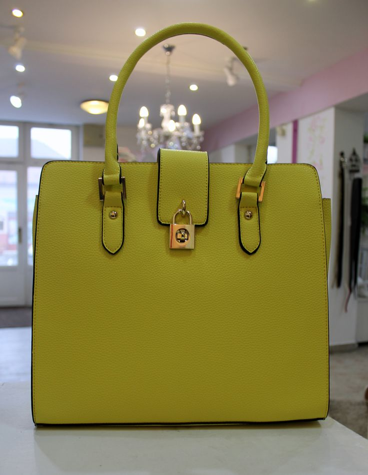 Yellow bag with lock